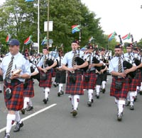 image of south african pipe band
